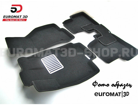 Текстильные 3D коврики Euromat3D Lux в салон для Cadillac SRX (2003-2009) № EM3D-001303
