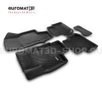 3D коврики Euromat3D EVA в салон для Volkswagen Tiguan (2017-) № EM3DEVA-005415